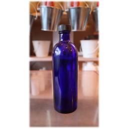 Flacon verre bleu 200ml...