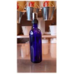 Flacon verre bleu 200ml spray